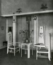 Photograph of the Rose Boudoir by the Mackintoshes, Image courtesy of Four Studies on Charles Rennie Mackintosh, p27