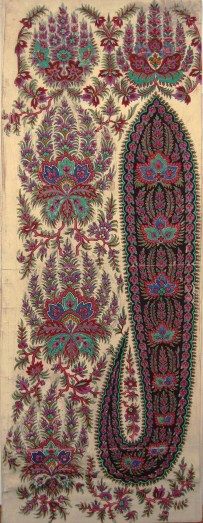 Untitled Paisley Shawl Design, GSA Archives and Collections (archive reference: DC/39/25)