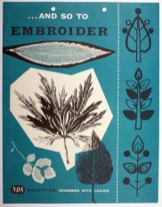 And So to Embroider Bulletin 26B, GSA Archives and Collections (archive reference: NDS/PUB/5/26B)