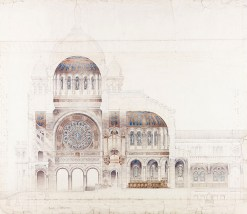 Diploma Study, design for a pilgrimage chapel, GSA Archives and Collections (archive reference: NMC/375/14)