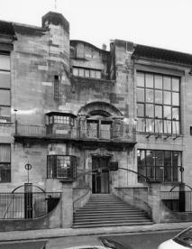Photograph of the front facade of the Mackintosh Building. Archive Reference: GSAA/P/7/364/52