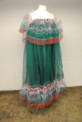 """Pennie Daintee"" dress two created from dyed and printed netting. Archive Reference: JAC 42."