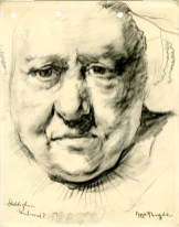 Sketch of a Rembrandt painting by Robert MacBryde (Archive Reference: GSAA/SEC/1/1940)