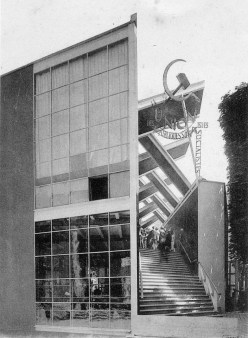 Soviet Pavilion by Konstantin Melnikov, Paris 1925. Image courtesy of: Wikimedia Commons.