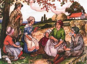 6. Illustration from 'The Life of St Julie for Children'. Image courtesy of St Augustine's Church, Monklands Heritage Society.