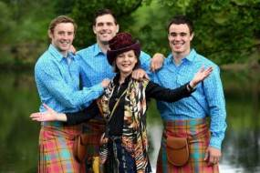 Jilli Blackwood with her designs for Team Scotland's Glasgow 2014 Commonwealth Games uniform. Image courtesy of The Herald.