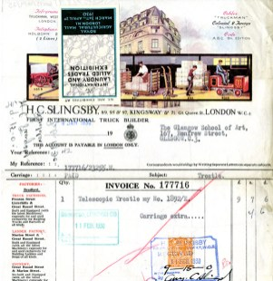 Receipt from H.C. Slingsby, 1930 (GSAA/GOV/5/10/9/25)
