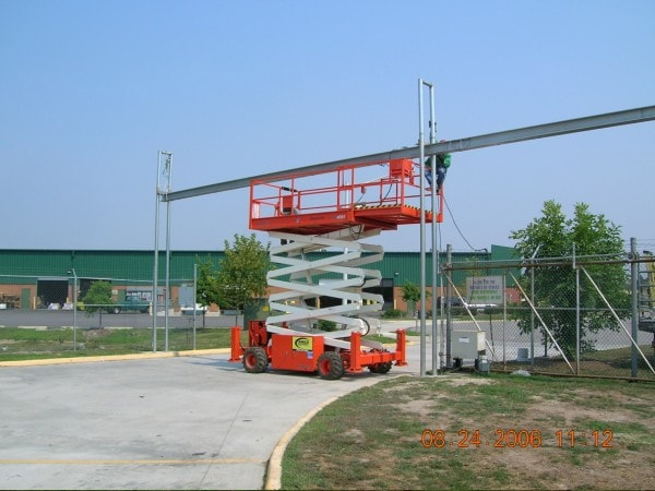 Overhead Track Slide Gate