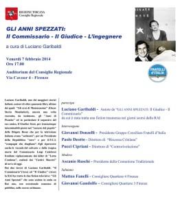Invito a Firenze 7 febbraio