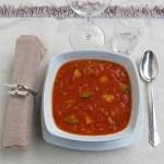 Zuppa di Tonno e Verdure al Curry