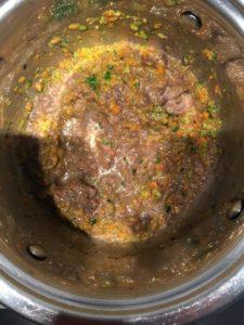Crema di funghi con risotto tricolore