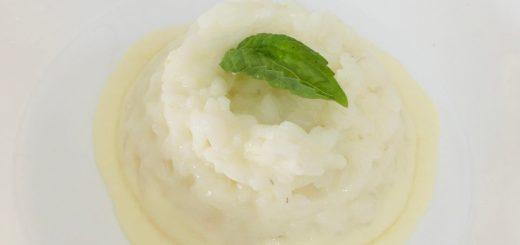Risotto al profumo di crema di basilico