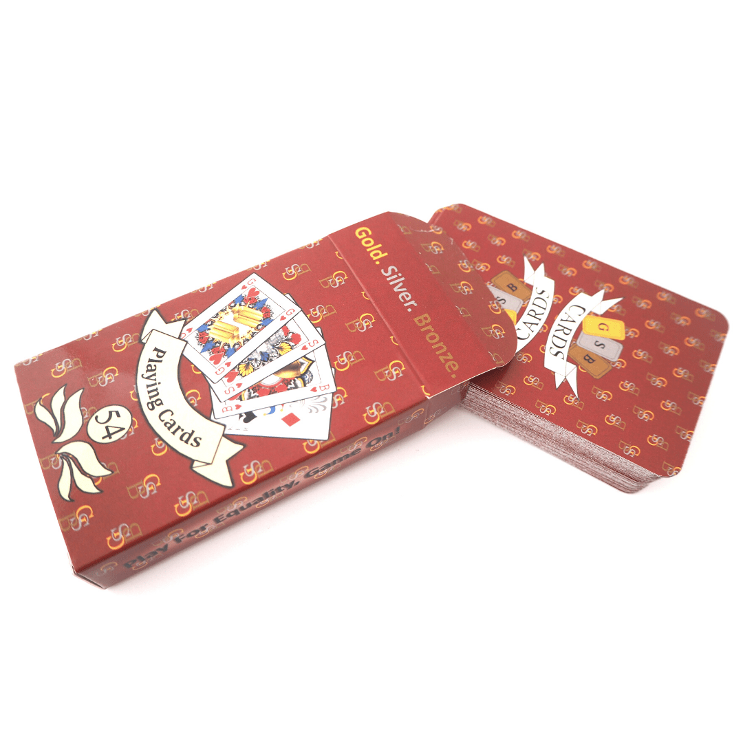 GSB Playing Cards Single Red pack Signature design