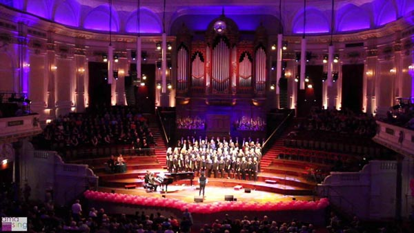 Rainbow Chorus perform at the Concertgebouw in Amsterdam, August 5, 2016