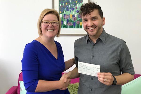 Sebastian(right) with Rebecca Fielding of Gradconsult