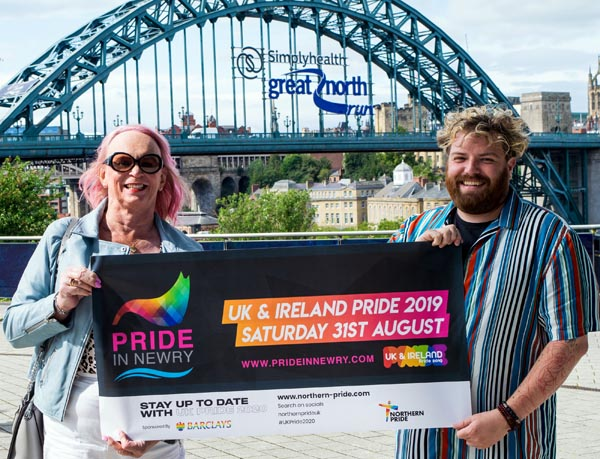L-R Northern Pride vice chair, Sue Musgrove, and chair, Ste Dunn