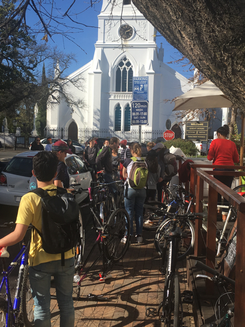24 Italian and French students joined the KCD cycling tour on 21 July. This was the second of two tours.