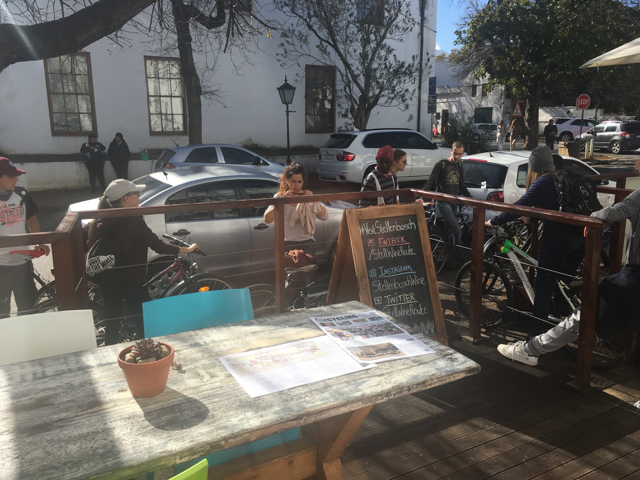 The tour started at the Stellenbosch Wine Routes offices where KCD Cycling is based.
