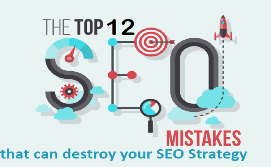 Twelve frequent website mistakes that can destroy your SEO strategy