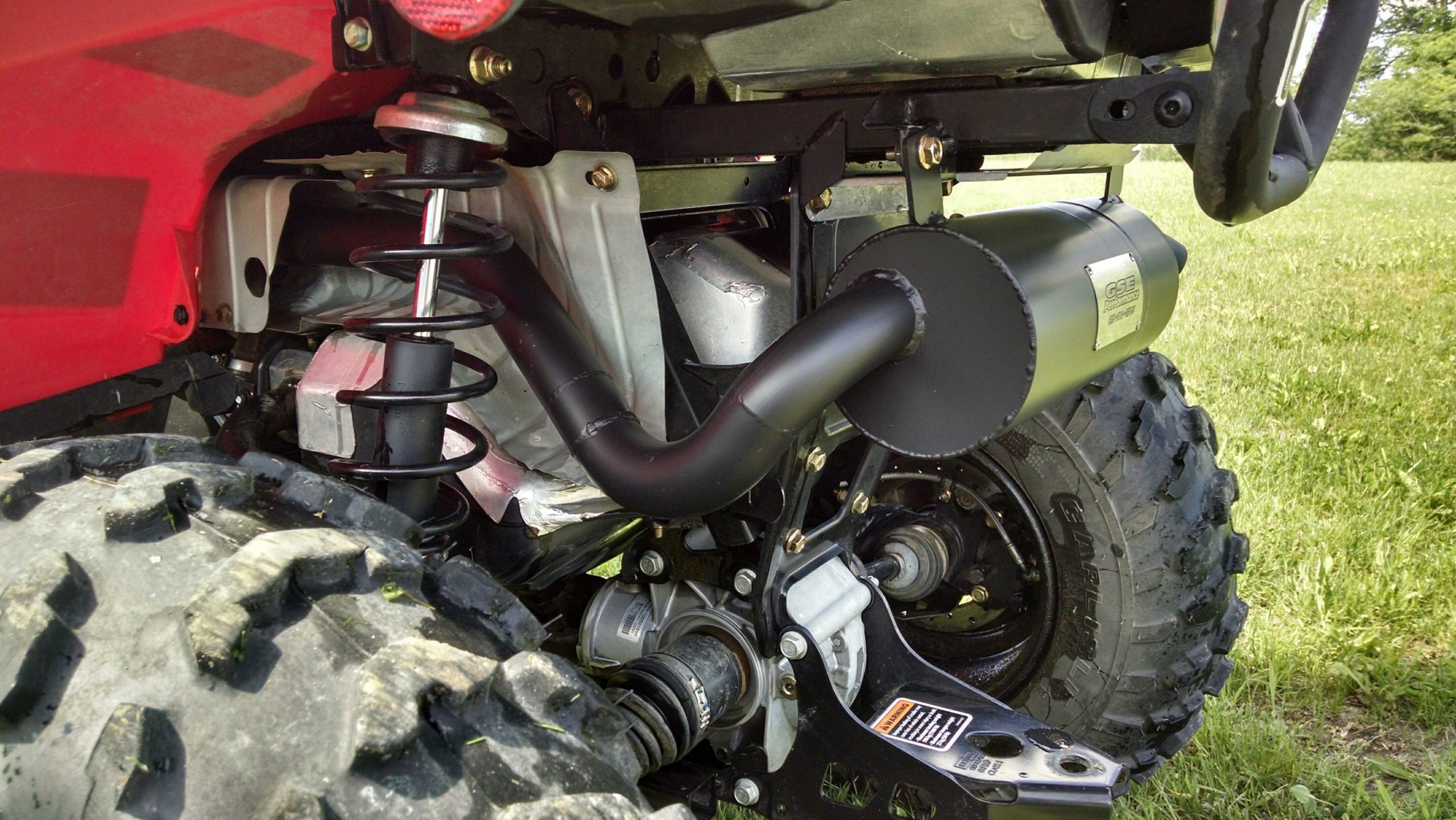 1392 can am outlander l 450 500 570 slip on trail tamer exhaust