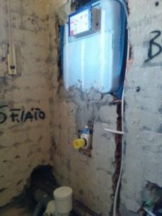 predisposizione cassetta incasso WC