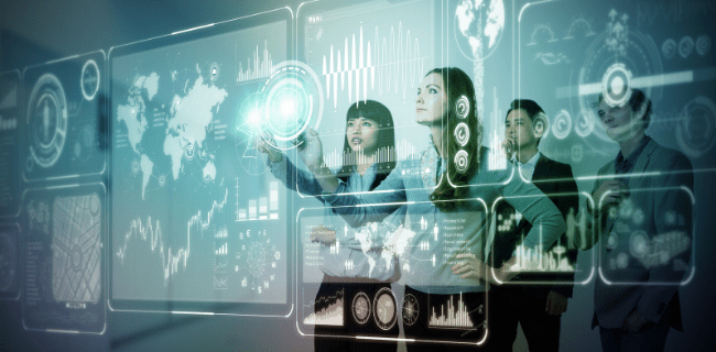 Leadership - People using virtual graph
