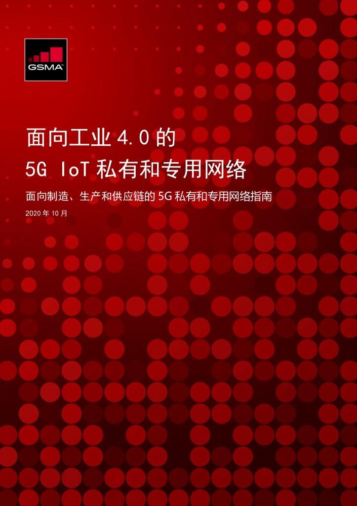 面向工业 4.0 的 5G IoT 私有和专用网络 image