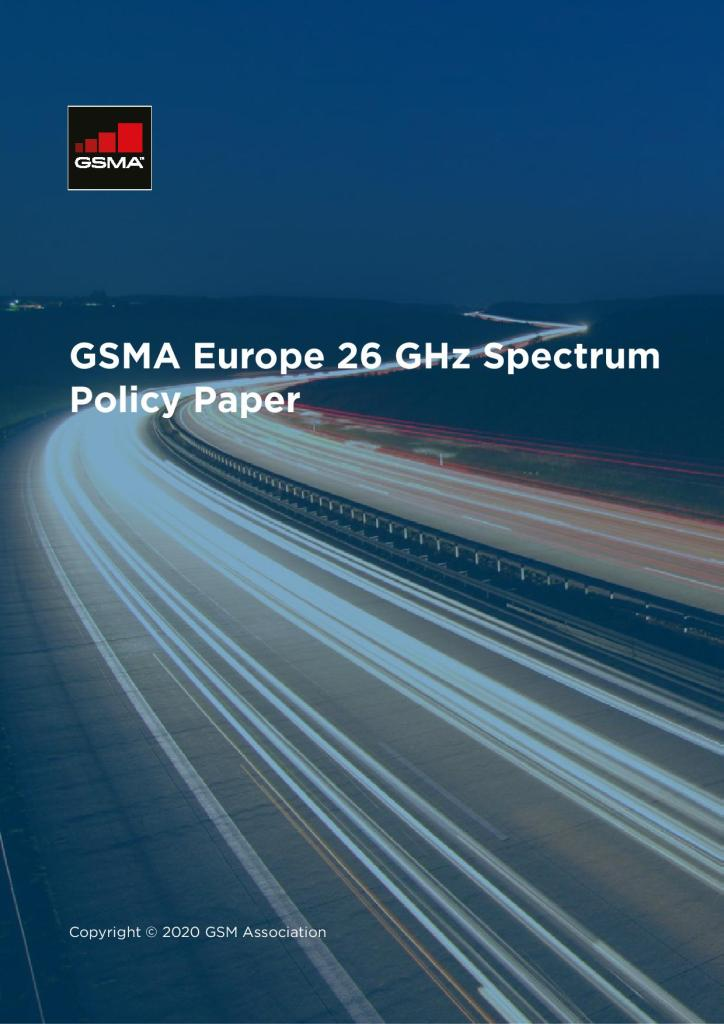 GSMA Europe 26 GHz Spectrum Policy Paper image