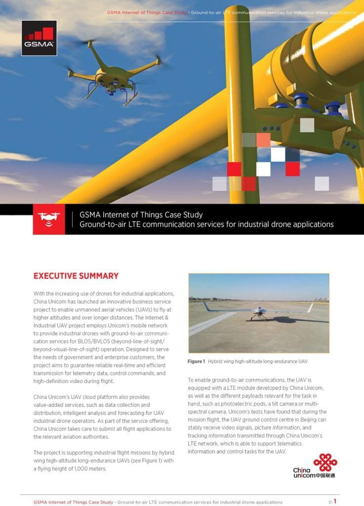 Case Study: Ground-to-Air LTE Communication Services for Industrial Drone Applications image