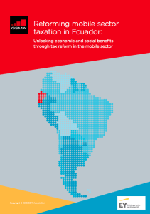 Reforming mobile sector  taxation in Ecuador image
