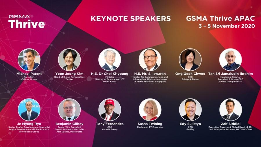 GSMA Thrive APAC Keynote Speakers
