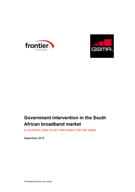Government intervention in the South African broadband market image