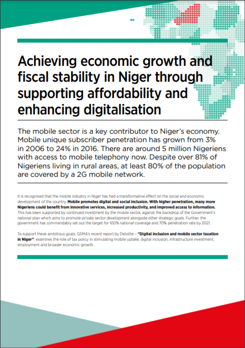 Digital inclusion and mobile sector taxation in Niger 2017 image