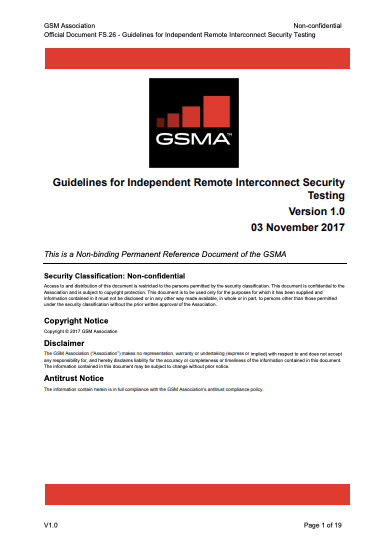 FS.26 Guidelines for Independent Remote Interconnect Security Testing image