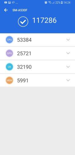 Samsung Galaxy A8 (2018) - AnTuTu 7.0 / fot. gsmManiaK.pl