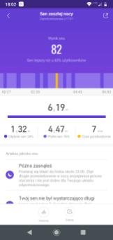 Mi Fit analiza snu (1) / fot. techManiaK