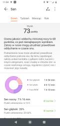 Huawei Zdrowie: analiza snu (2) - obniżona jakość oddechu