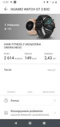 Huawei Zdrowie ustawienia zegarka: ekran główny