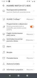 Huawei Zdrowie ustawienia zegarka: ekran główny (2)