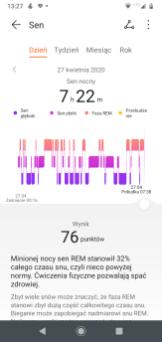 Watch GT 2e: analiza snu w aplikacji Zdrowie (2)