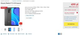 Рекламная цена Xiaomi Redmi 9 в бытовой технике RTV Euro