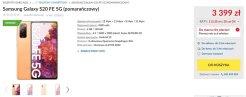 Cena Galaxy S20 FE 5G w Polsce / via RTV Euro AGD