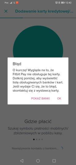 Fitbit nieudane dodanie karty Getin (9)