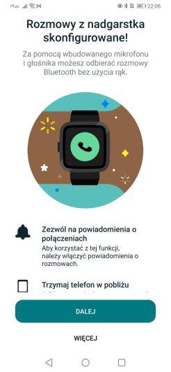 Fitbit: konfiguracja rozmów głosowych (5)