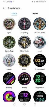 realme Watch S Pro przykladowe tarcze w aplikacji (1)