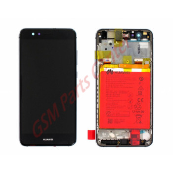 Huawei P10 Lite Lcd Display Touchscreen Frame Incl Battery Black 02351fsg 02351fse