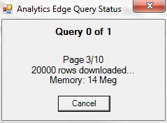 Analytics Edge Query Status