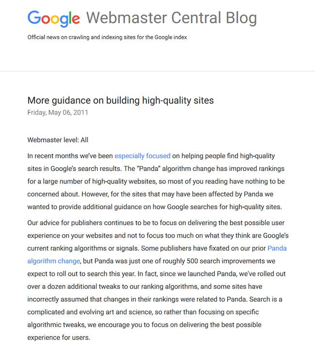 Google Core-Algorithmus-Updates und die Leistungsfähigkeit von Nutzerstudien user-testing-panda-questions