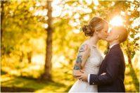 lgbtq same sex lesbian couple brides snohomish wedding woodland meadow farms seattle photographer
