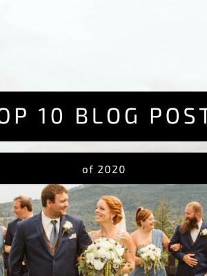 top 10 wedding blog posts of 2020